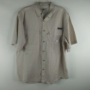 Joe Marlin Men's Sz Large Tan Checked Plaid Shirt